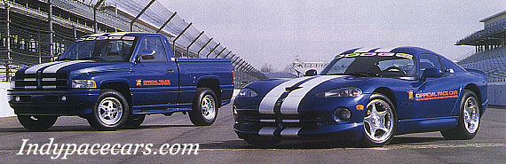 Indypacecars.c - 1996 pace car, Dodge Viper GTS