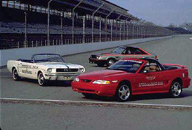 1994 1979 And 1964 Mustang Pace Cars