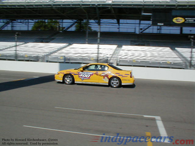 2001 brickyard 400 monte carlo pace car for Pace motor lines inc